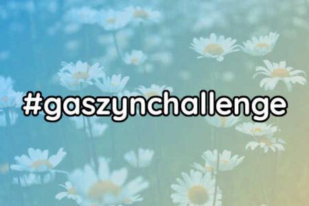 """Zdjęcie przedstawia napis """"#gaszynchallenge"""""""